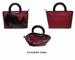 中性红色皮包,尺码:41x26x8厘米