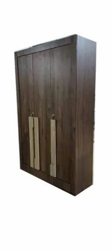 White Oak Brown Wooden Bedroom Wardrobe, For Home