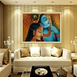 Ceramic Krishna Radha 3D Pictures Tile, Thickness: 8 - 10 mm, Size: 25x20 Inch