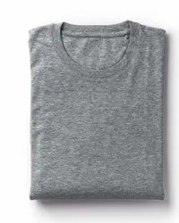 Plain Grey Cotton T Shirt