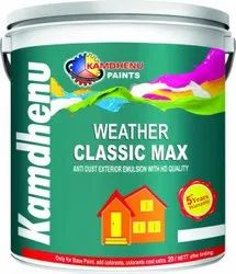 Soft Sheen and Smooth Kamdhenu Weather Classic Max Paint, For Exterior, Packaging Size: 20 Ltr