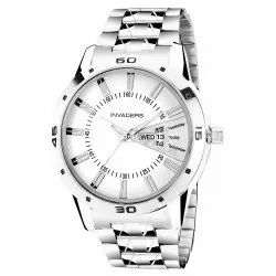Beinvaders Round Sporty Analogue Men's Watch Silver Colored Chain Watch, For Daily