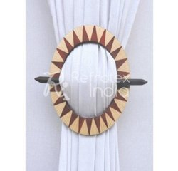 Round Shape Classic Wooden Curtain Tieback