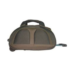 Polyester Grey Trolley Luggage Bag
