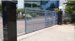 Mild Steel Automatic Telescopic Sliding Gate, For Industrial