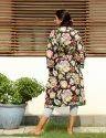 Screen print Short  Kimono Robe