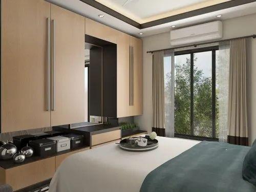 Modern Bedroom Interior Designing Service, For Home