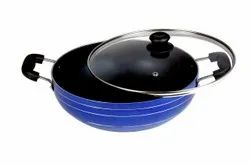 Round NON STICK KADAI WITH GLASS LID