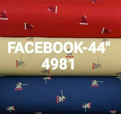 Facebook Fancy Printed Cotton Shirting Fabric