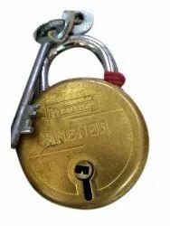 Normal Main Door Anchor Brass Round Padlock, Padlock Size: 40 mm