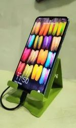 MS Green Metal Mobile Stand, Size: Free Size