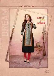 Aarvi Saheli Vol 10 Series 2001-2015 Heavy Cotton Kurti Fabrics