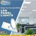 Glister Cool White Square And Round 8w Led Panel Light, For Indoor