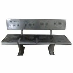 4 Seater SS Railway Bench