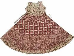 Printed Cotton Jaipuri One Piece Dress, Size: Free
