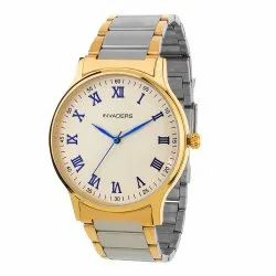 Gold And Silver Chain Premium Men's Watch