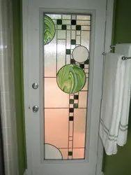 Premium- Stained Glass Bathroom Door