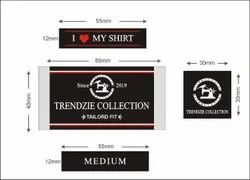 Printed Woven T Shirt Label, Packaging Type: Packet