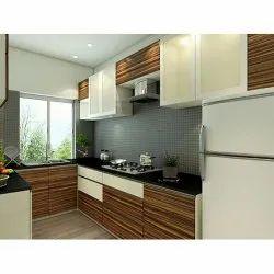 Modern PU Wooden Combination Modular Kitchen