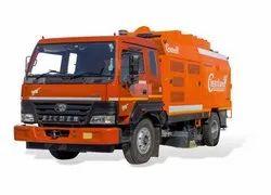 Diesel Mild Steel VS- Shakti-6000 Truck Mounted Sweeping Machine Rental, 18 Ton