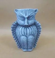 Himalayan Range Terracotta Clay Pen Stand Pot Owl Design