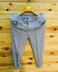 Tom King Gray Mens Grey Plain Style Pant