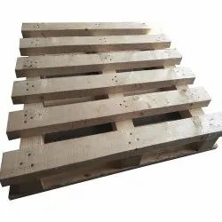 Rectangular 4 Way Rubber Wood Pallet, For Packaging, Capacity: 2 Ton
