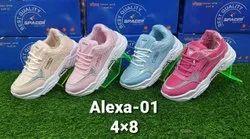 Women Girls Sports Shoes, Size: 4-8