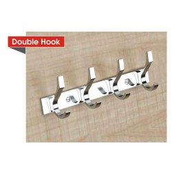Zinc Screw in Double Wall Door Hook, Number Of Hooks: 8