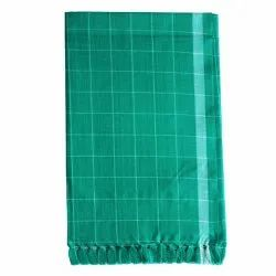 Checked Green Cotton Check Towel, Size: 30x60 Inches