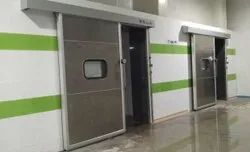 Silver Stainless Steel Sliding Door, For Cold Storage,Warehouse