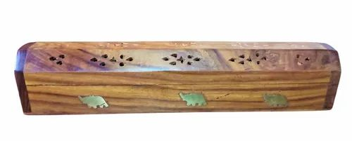 Sheesham Wood Incense Box Carved Was £4.25 Now £3.40