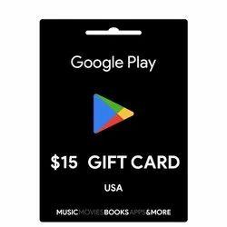 Google Play USA 15 Dollar Gift Card