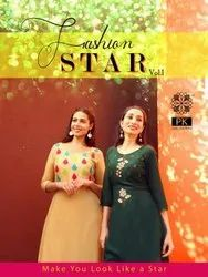 Aradhna Fashion Star Vol 1 Rayon With Embroidery Work Kurti Catalog
