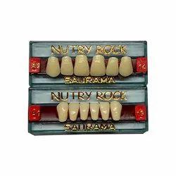 Nutry Rock Acrylic Artificial Teeth Set, Model Name/Number: NR0214
