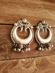 Golden Alloy Earrings