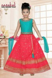 Embroidered Wedding Wear Kids Fancy Silk Lehenga Choli