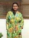 Cotton Printed Bathroom Wear / Night Wear Kimono-beach Wear