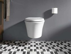 Open Front White Wall Hung Toilet Seat, For Bathroom Fitting, Size/Dimension: 700 X 410 X 130 Mm
