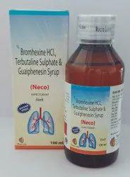 Neco Terbutaline 1.25 mg+ Bromexine 2 mg+Guaphensin 50 mg, 100 ml