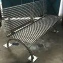 Stainless Steel Park Bench