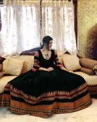 Black Embroidered Formal Evening Dresses