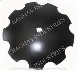 Mild Steel 18 Inch Notched Harrow Disc Blade, For Agriculture