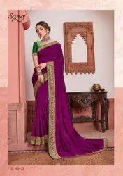 Majida Color Vichitra Silk Saree