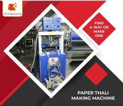 Hydraulic Automatic Thali And Dona Machine