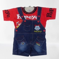 6 Month To 1 Year Red,Blue Kids Boys Dress