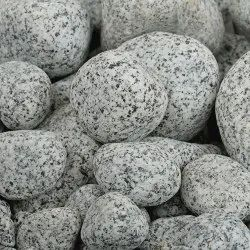Natural Stone Tumbled White Granite Pebbles, For Landscaping, Dimensions: 2