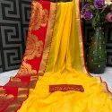Chanderi Cotton Weaving Work Saree -6 Pcs