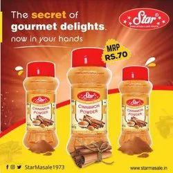 Star Masale Cinnamon Powder, Packaging Size: 100g