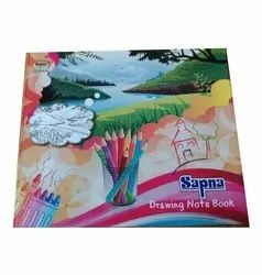 White 40 Pages Drawing Book, For School, Size: 8.5x10 Inch
